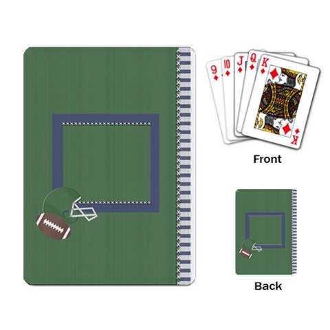 Touchdown (green And Blue) Playing Cards By Chelsea Winsor   Playing Cards Single Design   0g1mr60tw858   Www Artscow Com Back