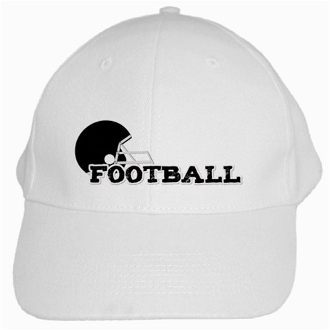 Touchdown (black And Red) Hat By Chelsea Winsor   White Cap   8dlzsifdzl17   Www Artscow Com Front