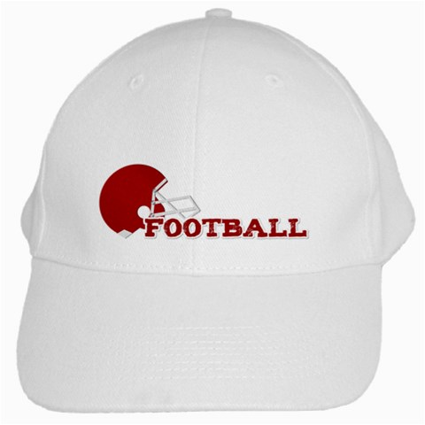 Touchdown (black And Red) Hat 2 By Chelsea Winsor   White Cap   Ofj8mlyt8z91   Www Artscow Com Front