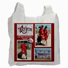 2010 Dylans First Baseball By Barbara   Recycle Bag (two Side)   I1l71wdju90j   Www Artscow Com Front
