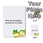 50 questions graffiti - Multi-purpose Cards (Rectangle)