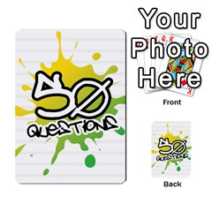 50 Questions Graffiti By Joyce   Multi Purpose Cards (rectangle)   Jk2hyegozvl3   Www Artscow Com Back 40