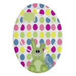 Eggzactly Spring Easter Ornament 1 - Ornament (Oval)