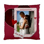 You & Me Heart 2-Sided Cushion Case - Standard Cushion Case (Two Sides)