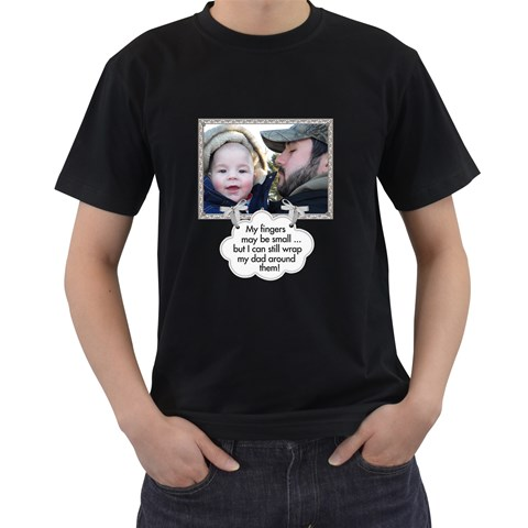 Wrap My Dad Around My Fingers Mens T Shirt By Lil    Men s T Shirt (black)   Hdy9gs65rfzl   Www Artscow Com Front
