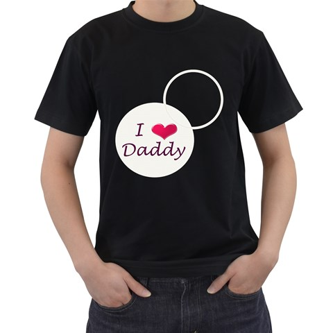 Love Daddy T Shirt By Daniela   Men s T Shirt (black)   Bsvwc5txupc2   Www Artscow Com Front