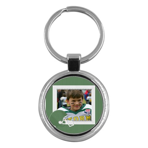 Dj Football By Bilmarcarden Msn Com   Key Chain (round)   5smwk5nm0oa0   Www Artscow Com Front