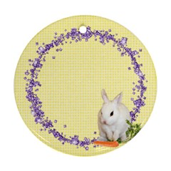 Spring Easter 2 Sided Ornament Round By Laurrie   Round Ornament (two Sides)   0oxxmuh9zga8   Www Artscow Com Front