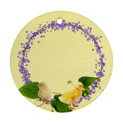 Spring Easter 2 Sided Ornament Round By Laurrie   Round Ornament (two Sides)   0oxxmuh9zga8   Www Artscow Com Back
