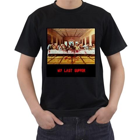 Satan Last Supper By Melanie Lopez    Men s T Shirt (black)   J0kpbrfaxams   Www Artscow Com Front
