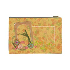 Shabby Spring Cosmetic Bag (l) By Mikki   Cosmetic Bag (large)   Qw9s177xza7o   Www Artscow Com Back