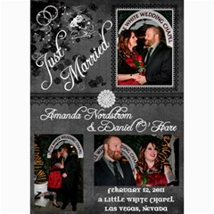 Wedding Announcement2 By Nordstrom Amanda   5  X 7  Photo Cards   Uucv8cuo1ymw   Www Artscow Com 7 x5 Photo Card - 3