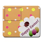 Happy Easter mousepad - Large Mousepad