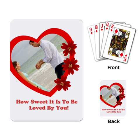 Love By Wood Johnson   Playing Cards Single Design   Icipb3hjd2nt   Www Artscow Com Back