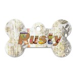 Rusty Puppy Dog Tag 2 - Dog Tag Bone (Two Sides)