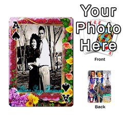 Ace Ashleigh & Raul Quiroz Family s Cards By Pamela Sue Goforth   Playing Cards 54 Designs   Xe0yknn84jma   Www Artscow Com Front - SpadeA