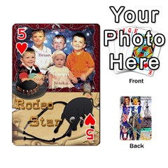 Ashleigh & Raul Quiroz Family s Cards By Pamela Sue Goforth   Playing Cards 54 Designs   Xe0yknn84jma   Www Artscow Com Front - Heart5