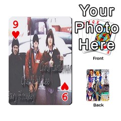 Ashleigh & Raul Quiroz Family s Cards By Pamela Sue Goforth   Playing Cards 54 Designs   Xe0yknn84jma   Www Artscow Com Front - Heart9