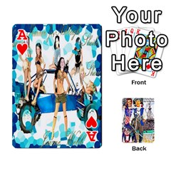 Ace Ashleigh & Raul Quiroz Family s Cards By Pamela Sue Goforth   Playing Cards 54 Designs   Xe0yknn84jma   Www Artscow Com Front - HeartA