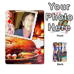 Ashleigh & Raul Quiroz Family s Cards By Pamela Sue Goforth   Playing Cards 54 Designs   Xe0yknn84jma   Www Artscow Com Front - Diamond3