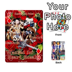 Ashleigh & Raul Quiroz Family s Cards By Pamela Sue Goforth   Playing Cards 54 Designs   Xe0yknn84jma   Www Artscow Com Front - Diamond6