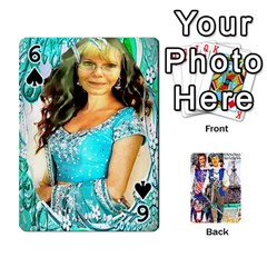 Ashleigh & Raul Quiroz Family s Cards By Pamela Sue Goforth   Playing Cards 54 Designs   Xe0yknn84jma   Www Artscow Com Front - Spade6