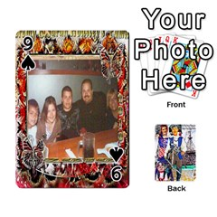 Ashleigh & Raul Quiroz Family s Cards By Pamela Sue Goforth   Playing Cards 54 Designs   Xe0yknn84jma   Www Artscow Com Front - Spade9