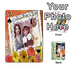 Scott Reed & Shannon Son s Brian, Dylan, Kaleb, Family s Cards By Pamela Sue Goforth   Playing Cards 54 Designs   Xyrdnikym72o   Www Artscow Com Front - Spade7