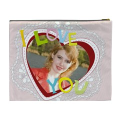 I Love You By Joely   Cosmetic Bag (xl)   Ojpacotpibhc   Www Artscow Com Back