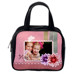 Flower Bag By Joely   Classic Handbag (two Sides)   Dr5uisr49ant   Www Artscow Com Back