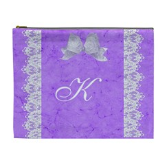 Purple Xl Cosmetic Case By Kim White   Cosmetic Bag (xl)   Rrg9ukizbwsy   Www Artscow Com Front