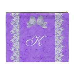 Purple Xl Cosmetic Case By Kim White   Cosmetic Bag (xl)   Rrg9ukizbwsy   Www Artscow Com Back