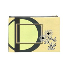 Sunflower L Cosmetic Bag By Daniela   Cosmetic Bag (large)   Kc57ume6dj5e   Www Artscow Com Back