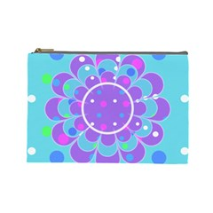 Flower L Cosmetic Bag By Daniela   Cosmetic Bag (large)   Ad7nltz1p2mw   Www Artscow Com Front