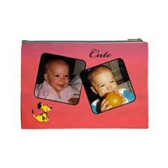 Little One L Cosmetic Bag By Deborah   Cosmetic Bag (large)   Yzmqjpoilwkj   Www Artscow Com Back
