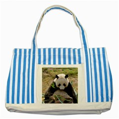 Big Panda Striped Blue Tote Bag by dropshipcnnet