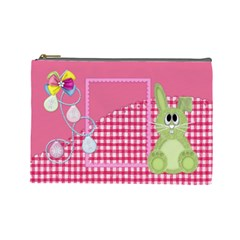 Eggzactly Spring Large Cosmetic Bag 1 By Lisa Minor   Cosmetic Bag (large)   Iayn2924i2sp   Www Artscow Com Front