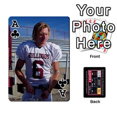 Ace Football Cards By Snackpackgu   Playing Cards 54 Designs   Eyagcbdkb0zh   Www Artscow Com Front - ClubA