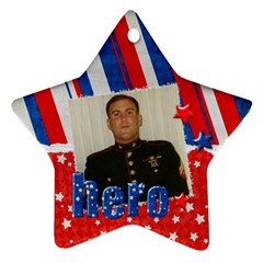 Hero/military Ornament Star (2 Sides) By Mikki   Star Ornament (two Sides)   G1nmn9ykvp1o   Www Artscow Com Front
