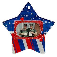 Hero/military Ornament Star (2 Sides) By Mikki   Star Ornament (two Sides)   G1nmn9ykvp1o   Www Artscow Com Back