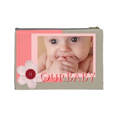 Our Baby By Joely   Cosmetic Bag (large)   Zdkbhmqxfaqh   Www Artscow Com Back
