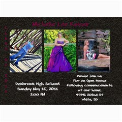 Shelly Grad Invite3 By Pam   5  X 7  Photo Cards   Pc3s0csnvp80   Www Artscow Com 7 x5 Photo Card - 1