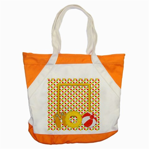 Sunshine Beach Tote 2 By Lisa Minor   Accent Tote Bag   Mdfnmxmwxywe   Www Artscow Com Front
