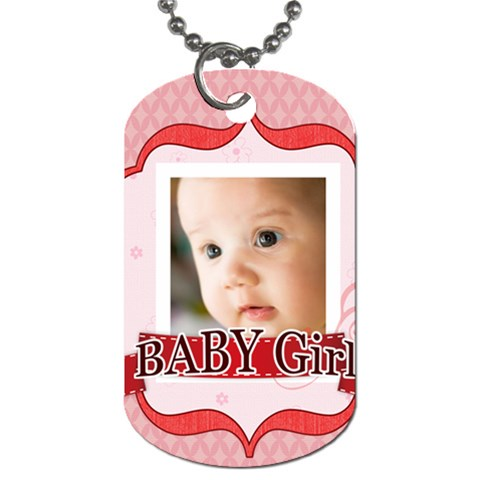 Baby Girl By Joely   Dog Tag (one Side)   72heohvjmvz4   Www Artscow Com Front