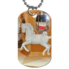White Horse Dog Tag Dog Tag Dog Tags (two Sides) by berry3333