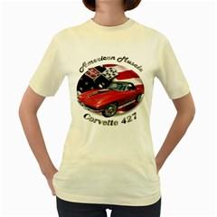 Chevy Corvette 427 Women s Yellow T-Shirt by BlueRidgeArtisans