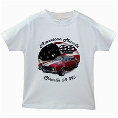 Chevy Chevelle SS 396 Kids White T-Shirt by BlueRidgeArtisans