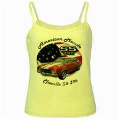Chevy Chevelle SS 396 Yellow Spaghetti Tank by BlueRidgeArtisans
