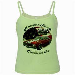 Chevy Chevelle SS 396 Green Spaghetti Tank by BlueRidgeArtisans