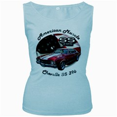 Chevy Chevelle SS 396 Women s Baby Blue Tank Top by BlueRidgeArtisans